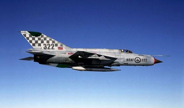 Jedno z najlepszych zdjęć przedstawiających kanadyjskiego MiG-a-21