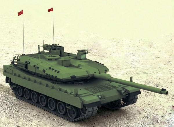 Wizualizacja czołgu Altay