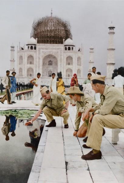 Tadź Mahal w 1942 roku (fot. Jordan J. Lloyd/www.dynamichrome.com)