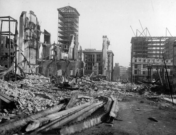 Ruiny San Francisco po trzęsieniu ziemi z 18 kwietnia 1906 roku
