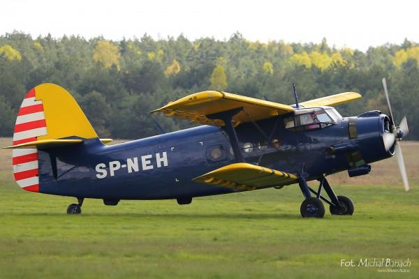 An-2 na lotnisku Kobylnica (fot. Michał Banach)