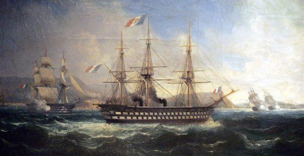 Okręt liniowy Napoleon z napędem parowym