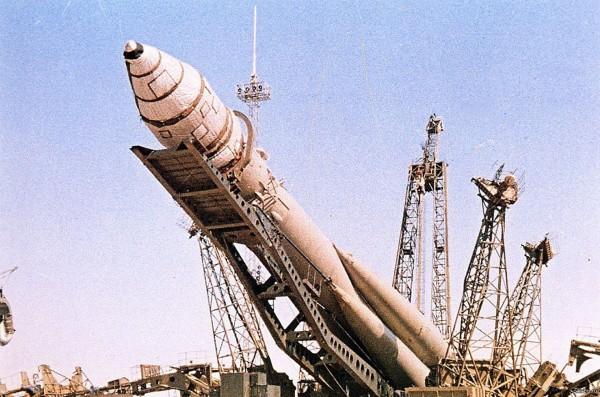 Rakieto Wostok 1 w trakcie przygotowań do startu