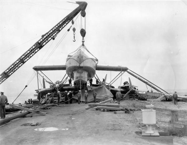 Latécoère 521 uszkodzony w 1935 roku