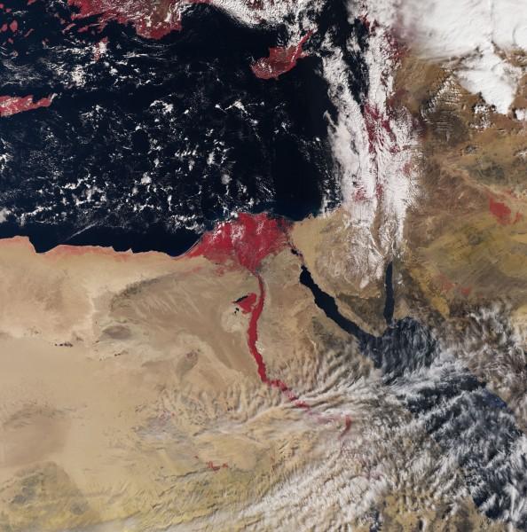 Czerwony Nil (fot. ESA)