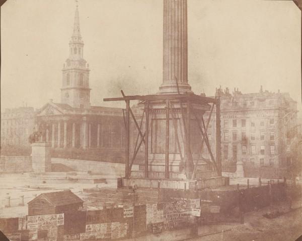 Kolumna Nelsona w Londynie w kwietniu 1844 roku (fot. SSPL)