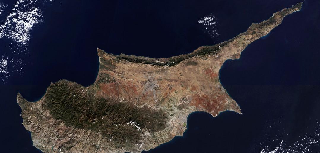 Zdjęcie satelitarne Cypru - wykonane 22 grudnia 2015 roku przez satelitę Sentinel-A2 (fot. ESA)