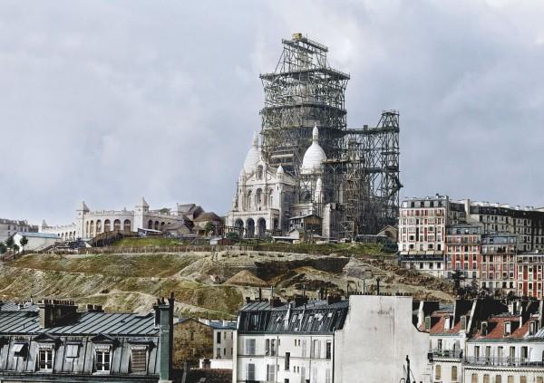 Sacre-Coeur w Paryżu w latach 80-tych XIX wieku (fot. Jordan J. Lloyd/www.dynamichrome.com)