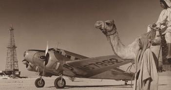 Szyb naftowy w Arabii Saudyjskiej w 1948 roku - zdjęcie