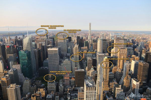 Manhattan - widok na północ z Empire State Building w 2016 roku (fot. Michał Banach)
