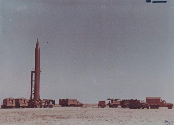 Przygotowania do odpalenia rakiety