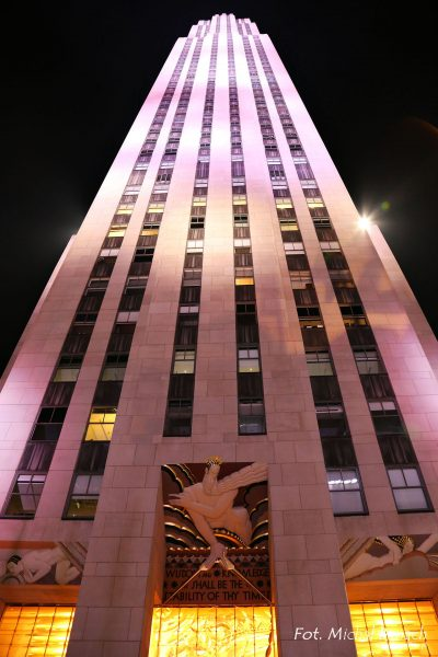 Rockefeller Center nocą (fot. Michał Banach)