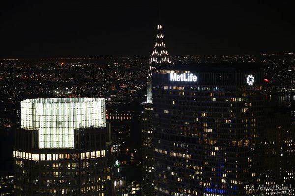 MetLife Building współcześnie, nocą (fot. Michał Banach)