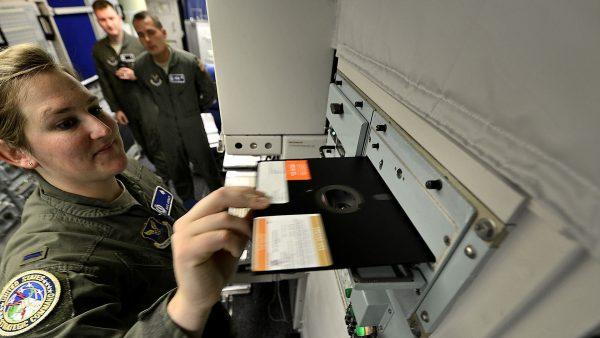 Jedna z dyskietek używanych w systemie Strategic Automated Command and Control System