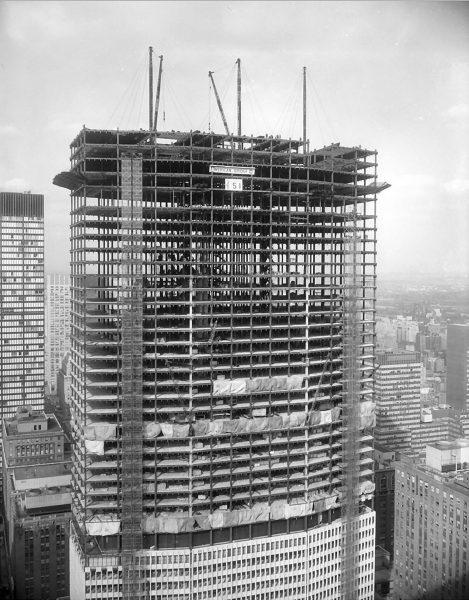 Pan Am Building w trakcie budowy