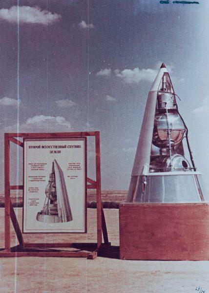 Makieta satelity Sputnik-2