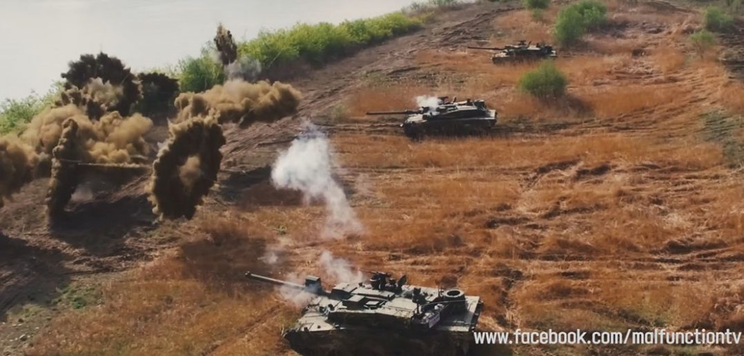 Południowokoreańskie czołgi K2 Black Panther na poligonie - film