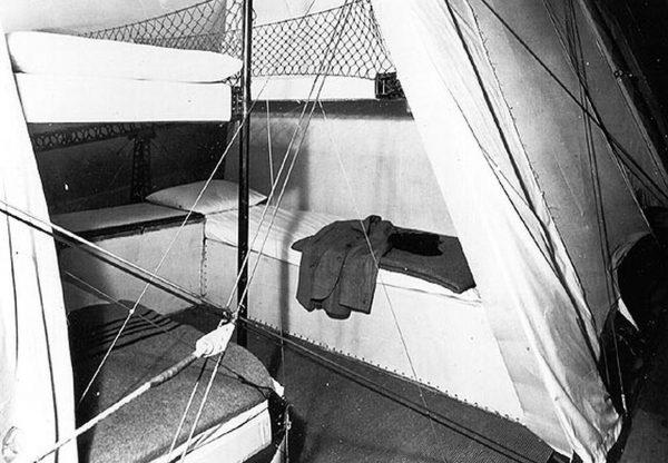 Pomieszczenia załogi na pokładzie Hindenburga
