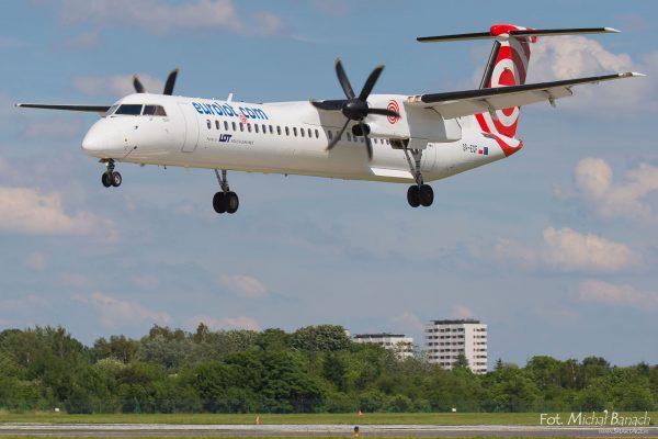 Bombardier Dash 8-Q402 - Dzień Spottera – Poznań Lotnisko Ławica (fot. Michał Banach)