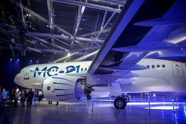 Prezentacja samolotu Irkut MC-21-300 (fot. Irkut)