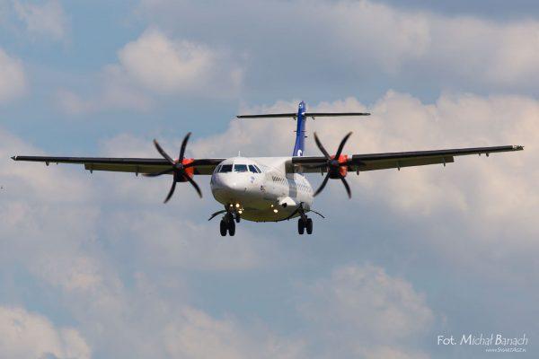 SAS Scandinavian Airlines ATR 72-600 - Dzień Spottera – Poznań Lotnisko Ławica (fot. Michał Banach)
