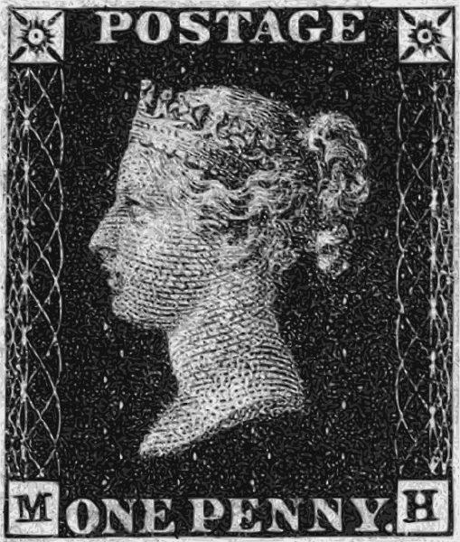 Penny Black - pierwszy znaczek pocztowy w historii