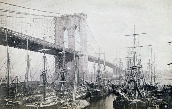 Most Brookliński w 1883 roku (fot. rmanders/Flickr.com)