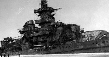 Wrak pancernika Gneisenau w Gdyni