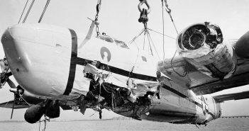 Eksperymentalne lądowanie B-24 na James River