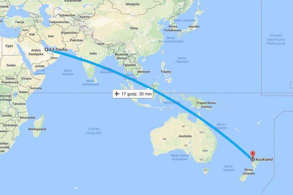 Auckland (Nowa Zelandia - Doha (Katar)