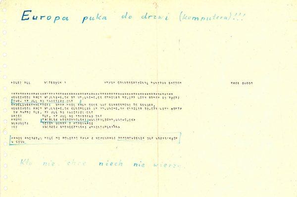 Pierwsza wiadomość email wysłano do Polski 17 lipca 1990 roku