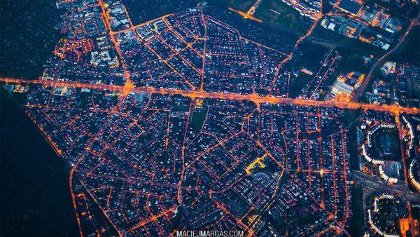 Warszawa z wysokości 3 km (fot. Maciej Margas)