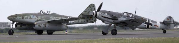 Współczesne repliki Messerschmittów Me 262 i Bf 109