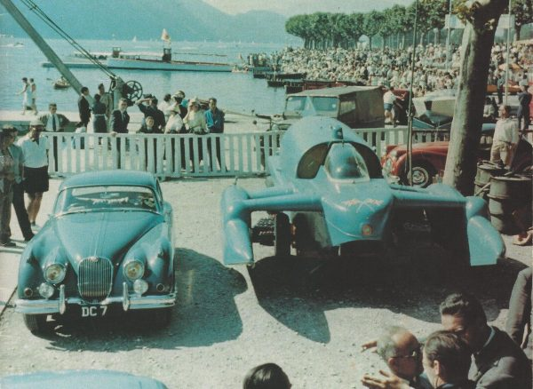 Bluebird K7 i Jaguar XK150