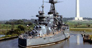 USS Texas pod koniec lat 70-tych - zdjęcia