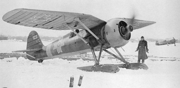 Rumuński PZL P.11 na płozach