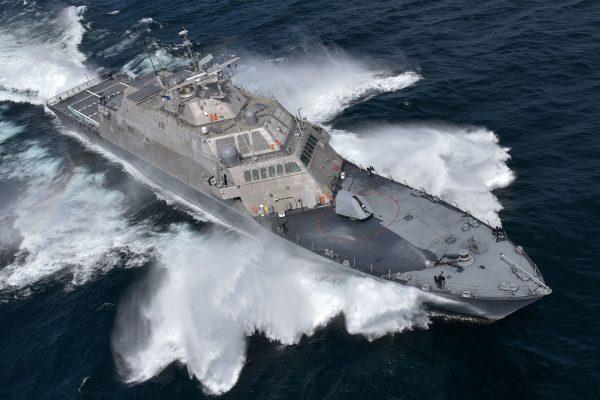 LCS-7 (USS Detroit) w trakcie prób - 13 lipca 2016 r. (fot. Lockheed Martin)