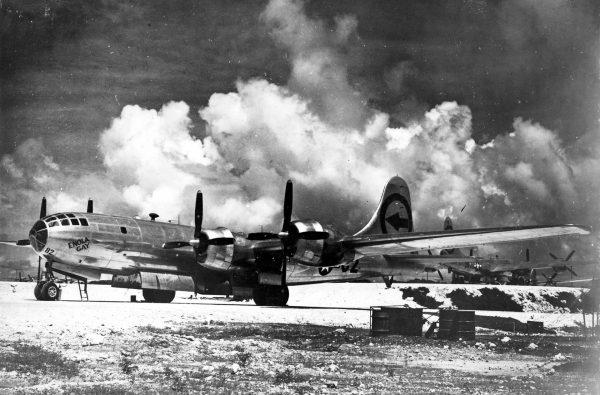 Bombowiec B-29 Superfortress o nazwie własnej Enola Gay