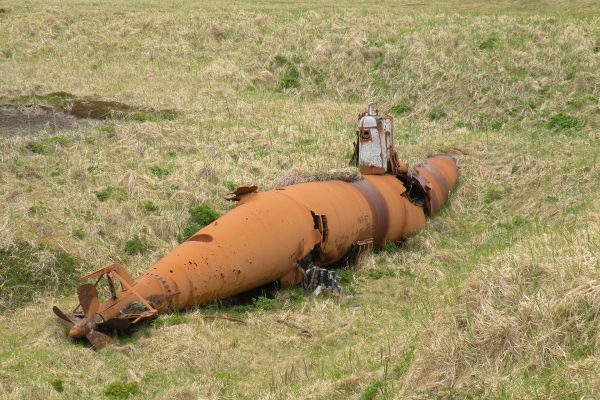Porzucone japońskie okręty podwodne na wyspie Kiska współcześnie