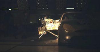 Testy zderzeniowe wózka sklepowego - film
