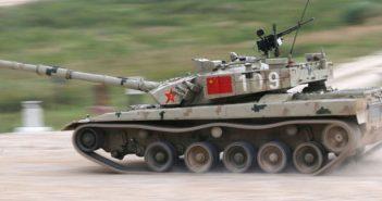 Chiński czołg Type 96B zgubił koło w trakcie zawodów