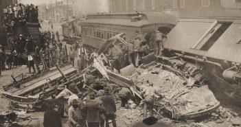 Zderzenie tramwaju z pociągiem - Lexington 1907 - zdjęcia