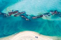 Tangalooma Wrecks - cmentarzysko statków na wyspie Moreton