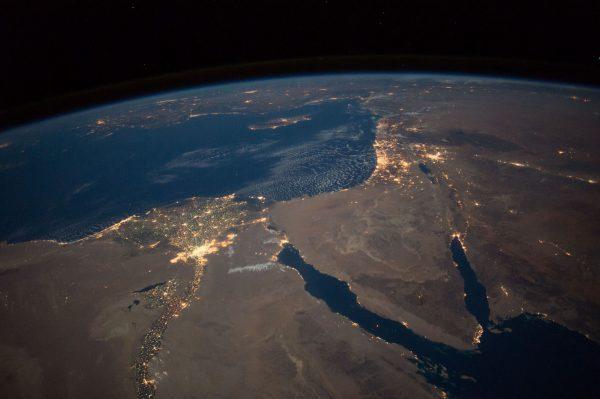 Egipt i Półwysep Synaj (fot. ISS)