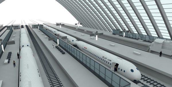 Clip-Air w postaci pociągu (fot. EPFL/TRANSP-OR/LIV/ICOM)