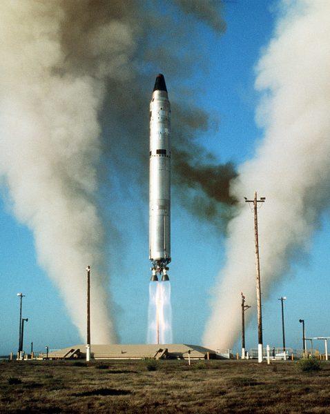 Start pocisku balistycznego Titan II w latach 70-tych