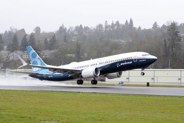 Boeing 737 MAX 8 podczas pierwszego lotu 29 stycznia 2016 roku (fot. Boeing)
