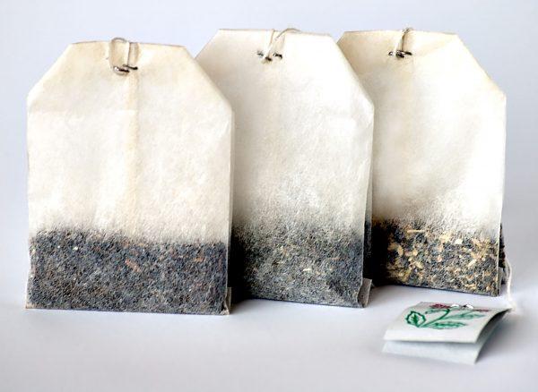 Typowe listki herbaty