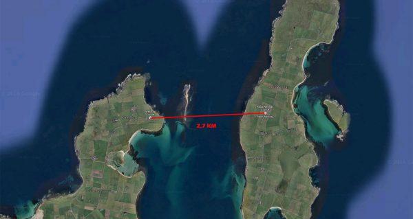 Połączenie między Loganair Westray a Papa Westray