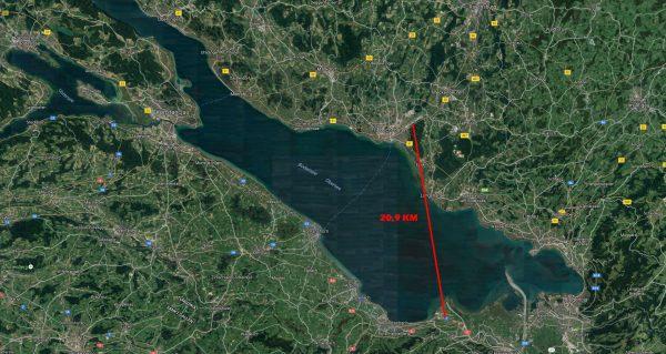 Połączenie między St. Gallen-Altenrhein w Szwajcarii a niemieckim Friedrichshafen